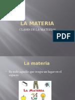 LA MATERIA  Quimica