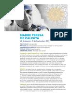 Mother Teresa Handout Spanish Final