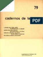 Cadernos de Teatro Num 79