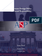 Corporate Foreign Policy and Social Responsibility