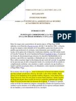 INTER INSIGNIORES (CDF)