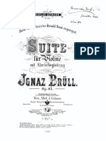 Brull, I. - Suite op.42 for violin and piano