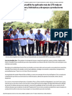 14-10-2018 En San Luis Acatlán, Astudillo ha aplicado más de 173 mdp en infraestructura carretera, hidráulica y de apoyo a productores.
