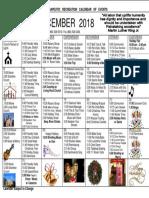 AM December 2018 Calendar