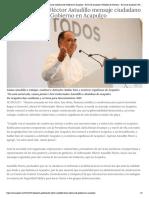 24-10-2018 Da Gobernador Héctor Astudillo mensaje ciudadano de Gobierno en Acapulco.