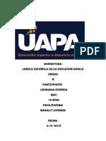 Tarea 6 de Lengua Española 3