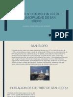 Crecimiento Demografico de La Municipalidad de San Isidro