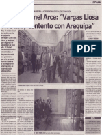 """""""Vargas Llosa vive muy contento con Arequipa"""", Mario Rommel Arce"""