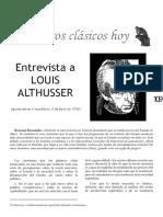 Entrevista a Althusser
