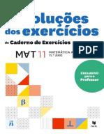 Resoluções dos exercícios do Caderno de Exercícios 11ano