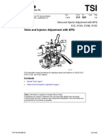 Valve and Injector Adjustment With VEB