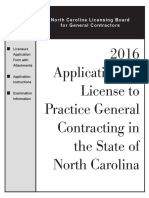 north carolina contractor application