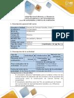 Guía de Actividades y Rúbrica de Evaluación - Fase 2 Determinar El Problema, Recopilar Información y Realizar Análisis Critico y Conclusiones ..
