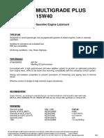 Multigrade Plus 15W-40