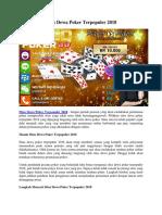 Situs Dewa Poker Terpopuler 2018