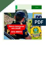 Edital Verticalizado - PRF 2018 - Policial_