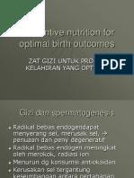 Preventive Nutrition for Optimal Birth Outcomes