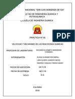 Velocidad y Mecanismo de Las Reacciones Quimicas