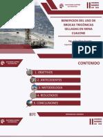 BENEFICIOS DEL USO DE BROCAS TRICÓNICAS SELLADAS EN MINA CUAJONE