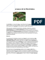 Historia y Avances de La Electrónica