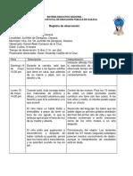 OBSERVACIÓN DE UN INFANTE RELACIONANDO CONCEPTOS DE LA TEORÍA PIAGETIANA