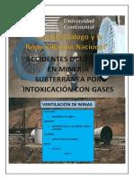Accidentes Occuridos Por Intoxicacion de Gases