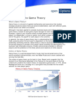 Open Options Introduction to Game Theory
