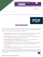 Hernias, Hernioplastía