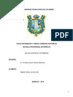 Monografia Penal IV Faltas Contra El Patrimonio
