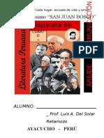 Separata de Área de Comunicación. Colegio Salesiano San Juan Bosco Ayacucho - Perú Alumno_ Prof. Luis a. Del Solar Retamozo Cuarto