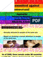 Crimes Against Homosexual and Lesbian Soft Copy