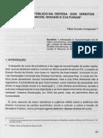 COMPARATO, F. K. O Ministério Público Na Defesa Dos Direitos Econômicos, Sociais e Culturais.