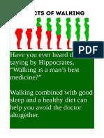 Effects of Walking