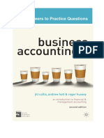 Answers to Business Accounting