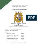 Trabajo de Tributación Municipal Avance 2