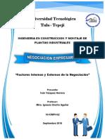 Factores Internos y Externos de La Negociacion