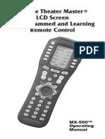Mx-500 Manual Gb Programmable Remote Control