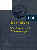 235225950 K Marx Mathematical Manuscripts