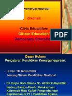 (PENGANTAR) Pendidikan kewarganegaraan