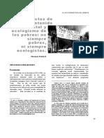 Conflictos medioambientales y ecología de los pobres