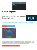 ICSE Solutions for Class 10 Biology - The Excretory System - A Plus Topper