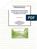Proposal Permohonan Gedung Olah Raga