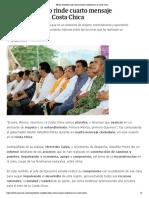 07-11-2018 Héctor Astudillo rinde cuarto mensaje ciudadano en la Costa Chica.