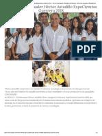 07-11-2018 Inaugura Gobernador Héctor Astudillo ExpoCiencias Guerrero 2018.