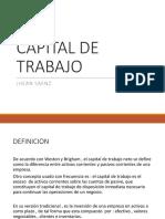 Capital de Trabajo - Jhean Saenz