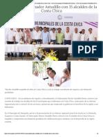 07-11-2018 Se reúne Gobernador Astudillo con 15 alcaldes de la Costa Chica.