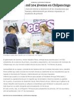 10-11-2018 Astudillo beca a mil 504 jóvenes en Chilpancingo.