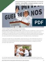 12-11-2018 Refrenda Gobernador Astudillo compromiso con la región Norte de Guerrero.