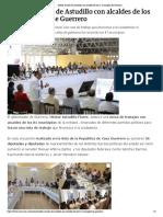 24-11-2018 Inédita reunión de Astudillo con alcaldes de los 81 municipios de Guerrero.