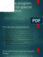 Exercise Program Design for Special Population